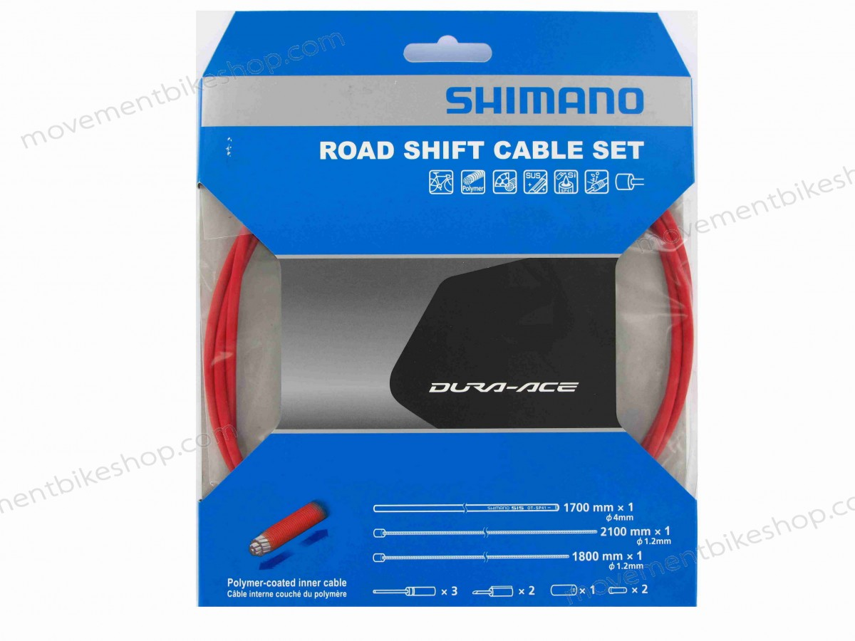 Shimano On Sale - Dura-Ace 9000 Road Gear Cable Set - Red ★ ★ At a Discount Of - Shimano On Sale Dura-Ace 9000 Road Gear Cable Set Red ★ ★ At a Discount Of-01-1
