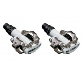 Shimano On Sale - M520 Clipless SPD MTB Pedals White Best Price Guaranteed ♠ ♠ ♠